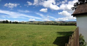 view from the farm shop